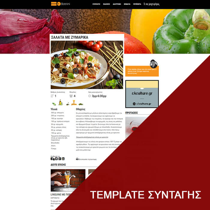 T.M.Y. Ιστοσελίδες - μαγειρικό portal