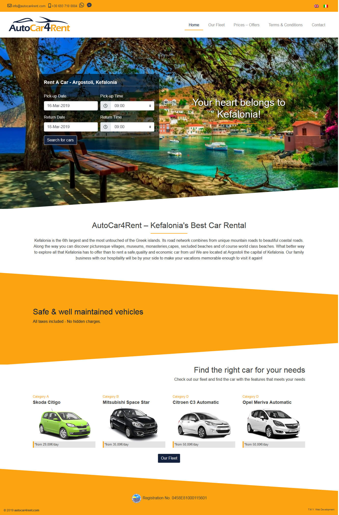 T.M.Y. Ιστοσελίδες - autocar4rent.com